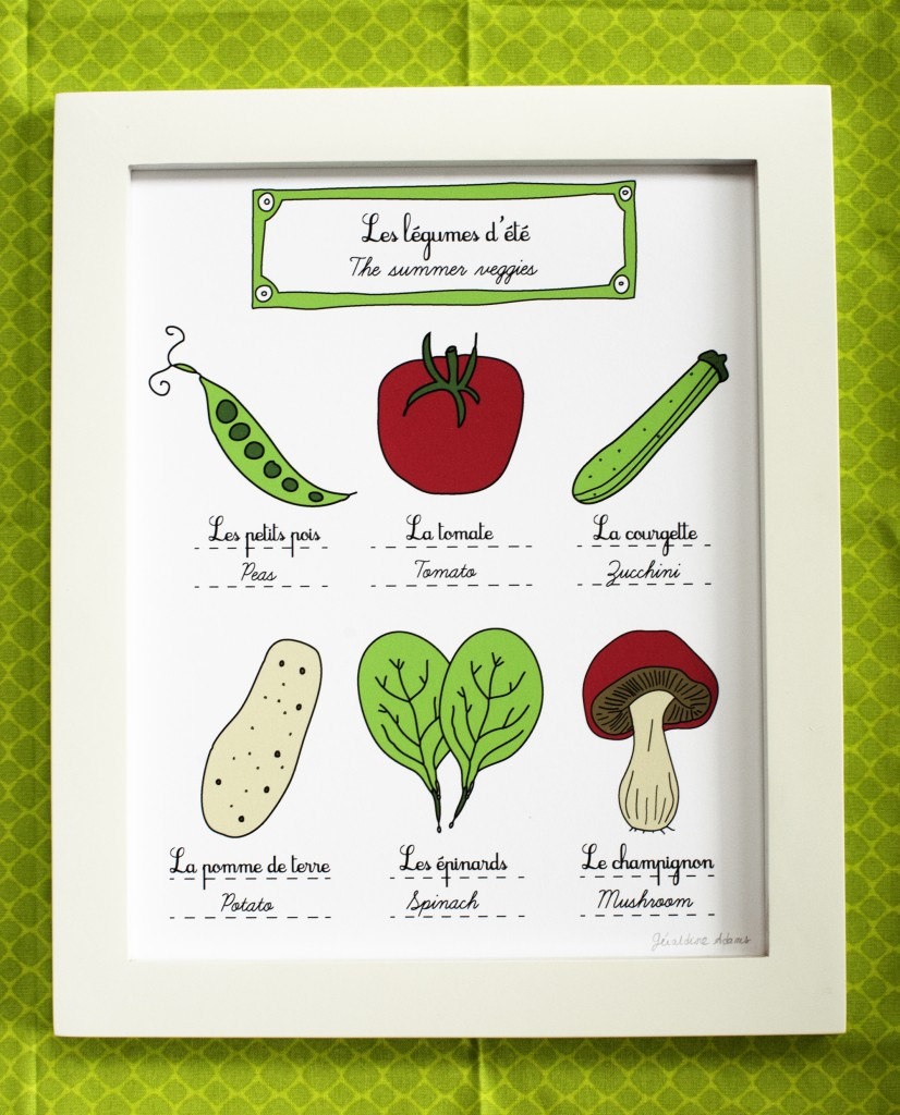 The summer veggies illustration print