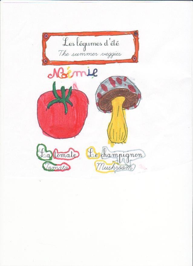 Veggies colored by Noémie - Légumes coloriés par Noémie