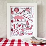 French cold cuts art print - Kitchen food series