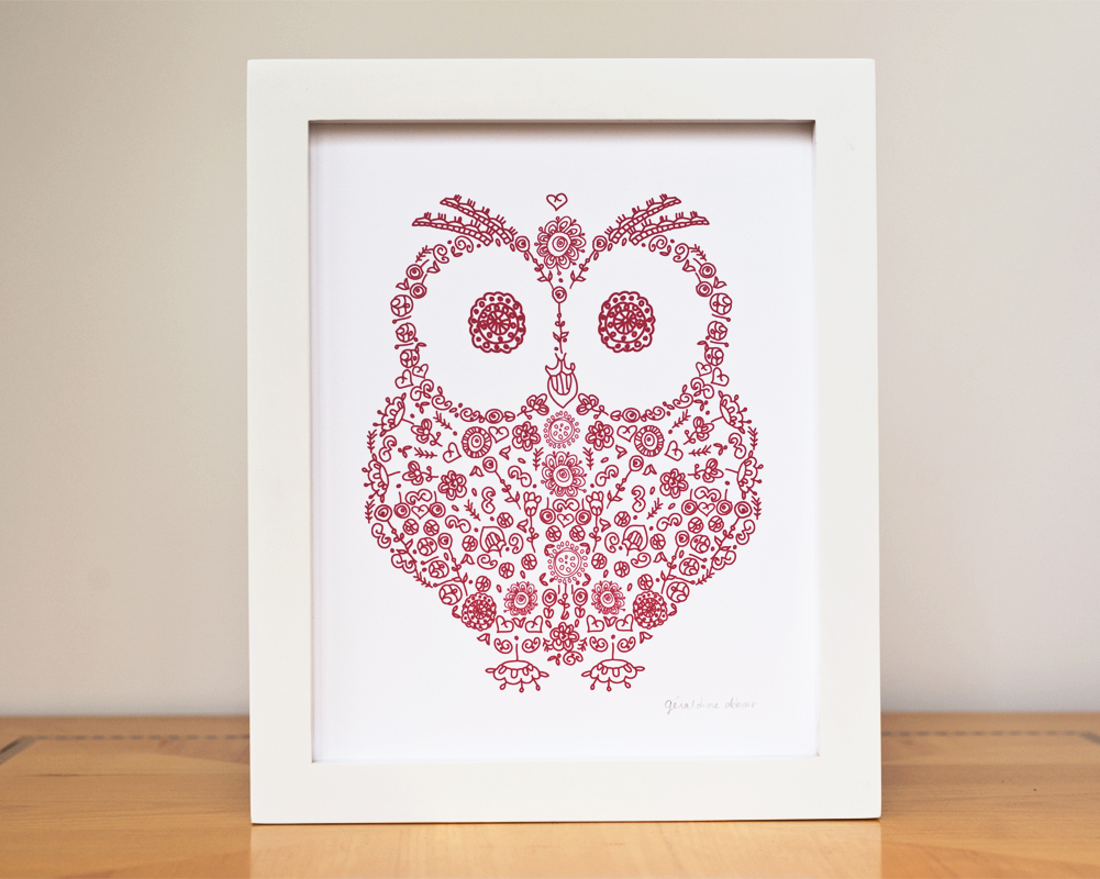 Holiday Home Decor Owl Front