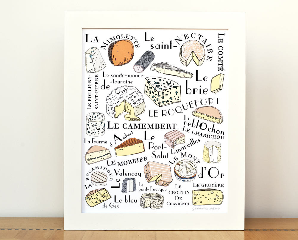 French Cheeses 8x10 print