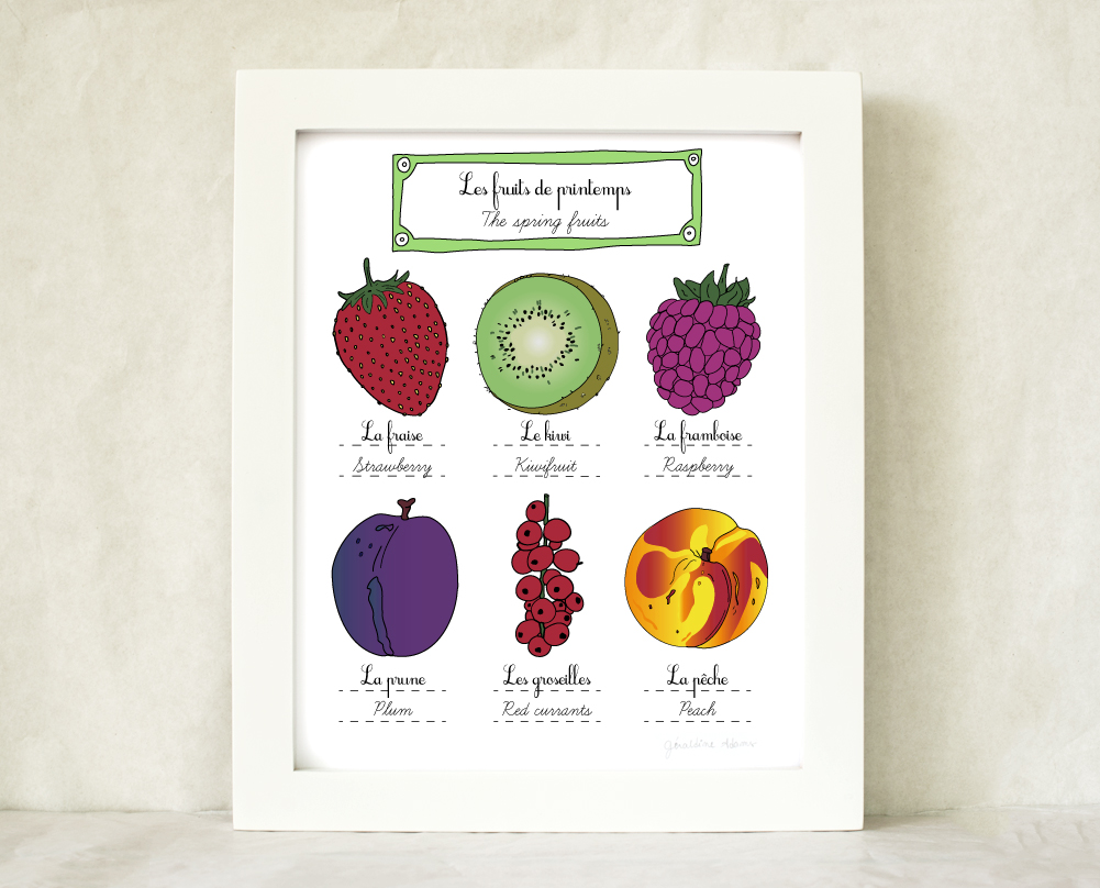 The Spring Fruits - Kitchen Art print 8x10 Géraldine Adams